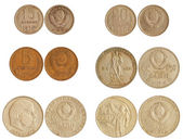 Coins of ussr 1965-91 years — Stock fotografie