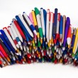 Ball pens,Objects over white — Stock Photo