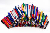 Ball pens,Objects over white — 图库照片