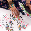 Stock Photo: Divination by playing cards