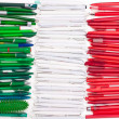 Flag of Iitaly from pens — Stock Photo #5307074