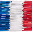 Stock Photo: Flag of France from pens