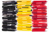Flag of Belgium from the pens — Stock Photo