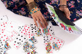 Divination by playing cards — Stock Photo