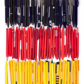 Flag of Germany from the pens — Stock Photo
