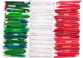 Flag of Iitaly from the pens — Stock Photo
