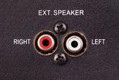 Audio inputs — Stock Photo