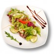 Plate of pork with vegetables. File includes clipping path for — Stock Photo #4700542