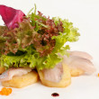 Sashimi with salad — Stock Photo