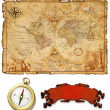 An ancient map — Stock Photo