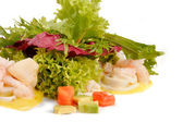 Prawn salad — Stockfoto