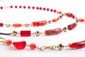 Red gem necklace — Stock Photo