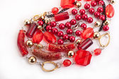 Red gem necklace — Stock fotografie