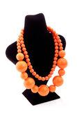 Orange color necklace — Stock Photo