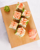 Sushi futomaki with shrimp — Stock Photo