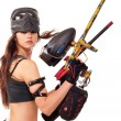 Paintball girl - Stock Photo