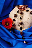 Necklace, flower and stone — Stock Photo