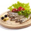 A composition with clupea herring — Stock Photo