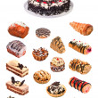 Collage of cakes. File includes detailed clipping path — Stock Photo #4722070
