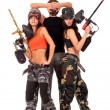 Paintball team — Stock Photo