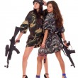 Royalty-Free Stock Photo: Two armed girls