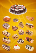 Collage of cakes — Stock Photo