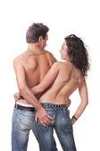 Изображение молодая пара — Стоковое фото