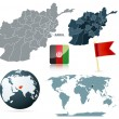 Set of Afganistan vector maps - Stock Vector