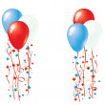 Patriotic Balloon Vector — Stock Vector