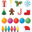 Stock Vector: Christmas Icon Set