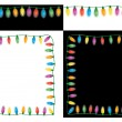 Stock Vector: Christmas Lights Set