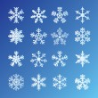 Royalty-Free Stock Imagen vectorial: Snowflakes Set