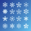 Stock vektor: Snowflakes Set