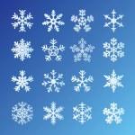 zestaw płatki śniegu — Wektor stockowy