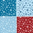 Snow Seamless Vector Backgrounds Set - Imagen vectorial