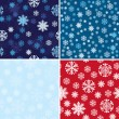 Royalty-Free Stock ベクターイメージ: Snow Seamless Background Set
