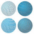 Vector Sphere Set — Stock Vector