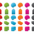 Color Tags Set — Stock Vector