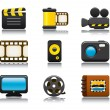 Video and Photo Icon Set One - Stok Vektr