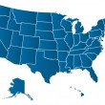 Vektorová mapa USA — Stock vektor
