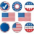 American Vote Signs — Stock Vector #4604800