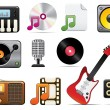 Royalty-Free Stock Imagem Vetorial: Music Icon Set One