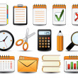 Office Icon Set One — Vector de stock #4604955