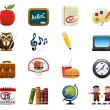 School Icon Set — Stockvectorbeeld