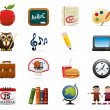 School Icon Set - Stock Vector