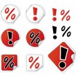 Royalty-Free Stock Vector Image: Set Of Shopping Stickers