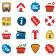 Shopping Icon Set — Stok Vektör