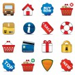 Shopping Icon Set — Stock Vector #4605107