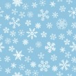 Snow Seamless Light Blue Vector Background - Vettoriali Stock