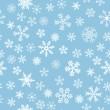 Snow Seamless Light Blue Vector Background — Stock Vector